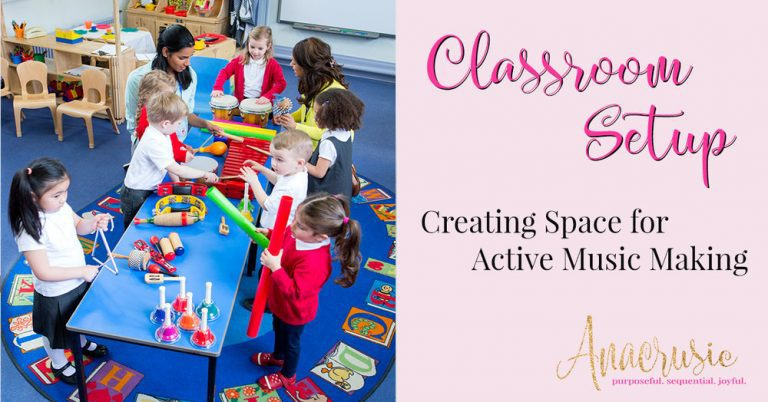 Classroom Setup: Creating Space for Active Music Making {Sparkle & Shine BTS Pt 3}