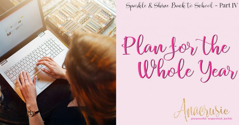 Plan for the Whole Year at a Glance {Sparkle & Shine BTS Pt 4}