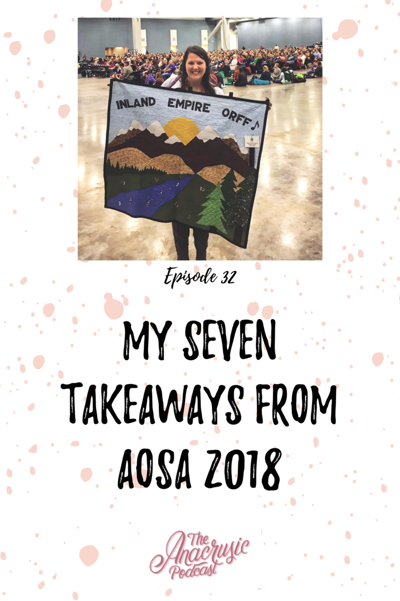 Read more about the article TAP 032: My 7 Takeaways from AOSA 2018