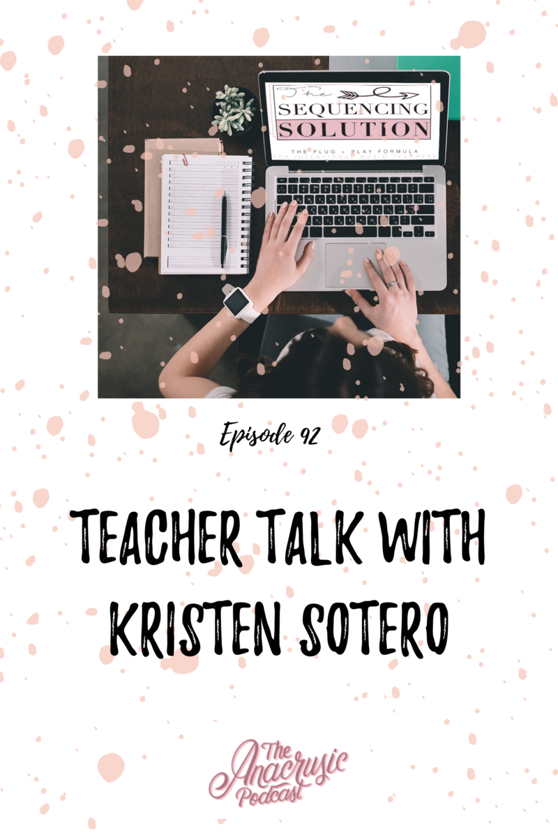 Read more about the article TAP 092 – TSS Member Spotlight: Teacher Talk with Kristen Sotero